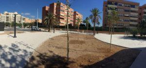 creación de jardín y zona verde en Elche por Avante construcción