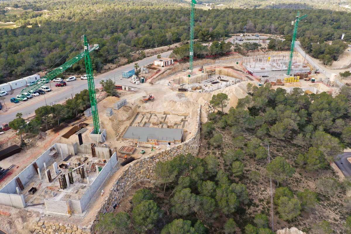 Residencial los Nísperos obra de edificación realizada por Avante