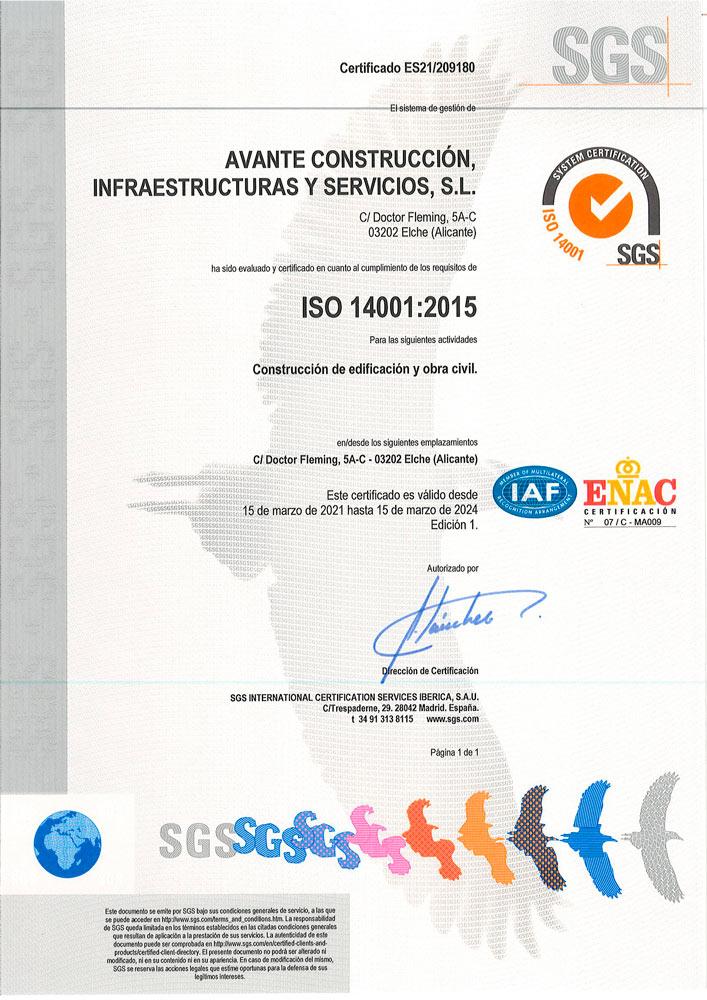 Certificación sellos ISO por el sistema de Gestión Ambiental