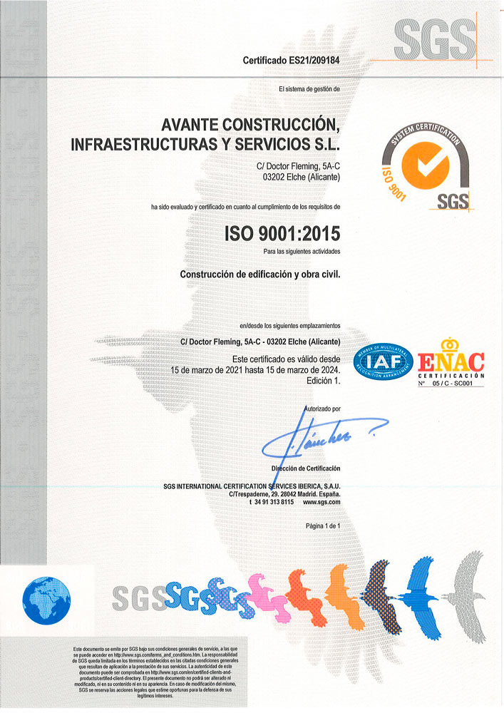 Certificación sellos ISO por el sistema el sistema de del sistema de Gestión de Calidad